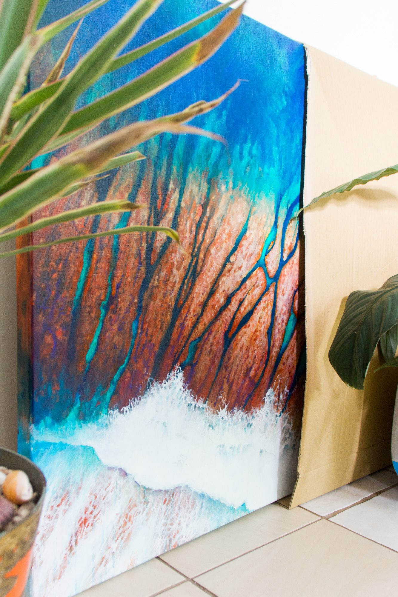 commission ocean painting by scott denholm