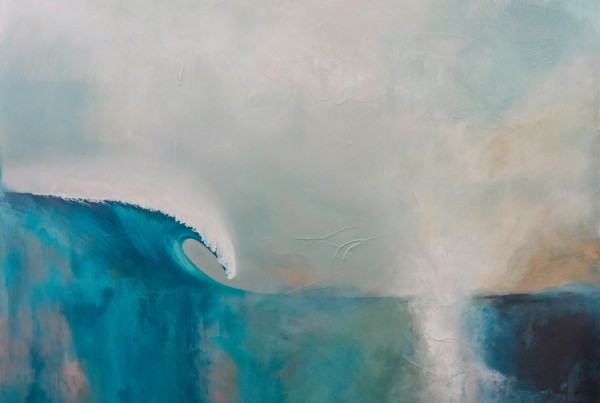 Deep Blue Dream - Contemporary ocean art by Scott Denholm artist