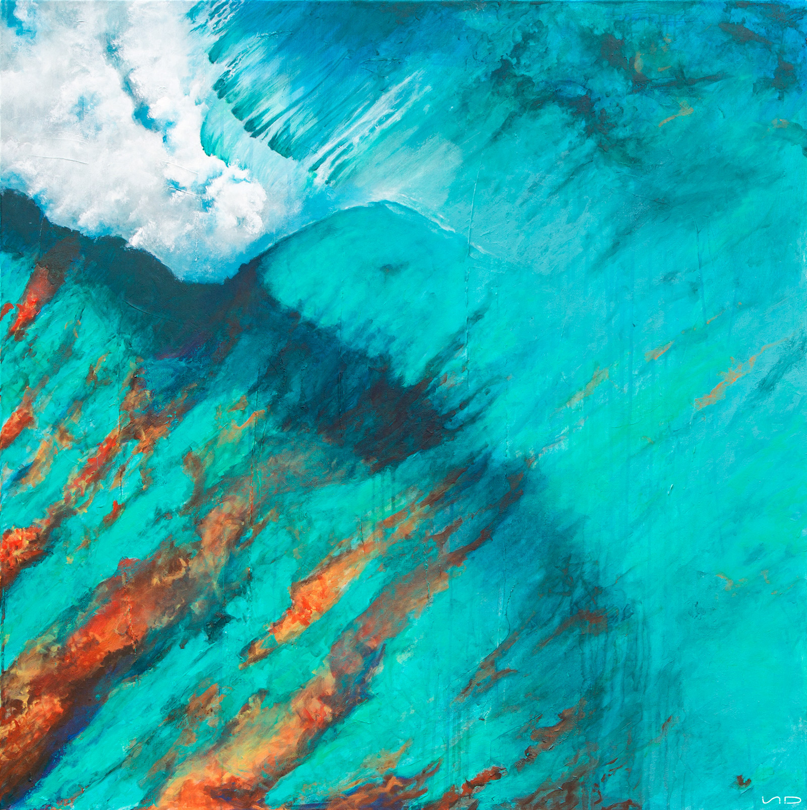 They Called It Paradise - Contemporary ocean art by Scott Denholm artist