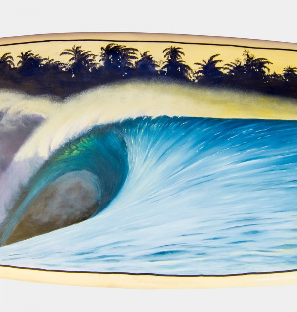 Scott Denholm surfboard painting Indonesia #004