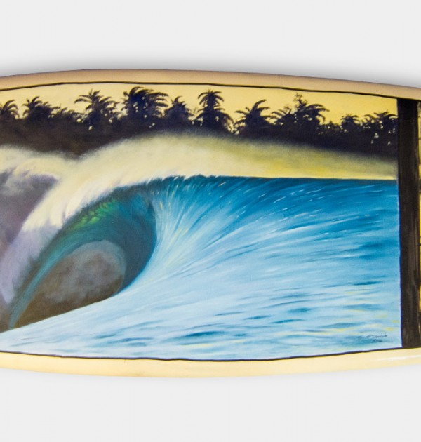 Scott Denholm surfboard painting Indonesia #003
