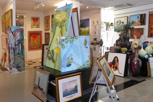 Scott Denholm Art Hillier & Skuse Gallery Colour In Your Life Xmas Art Market