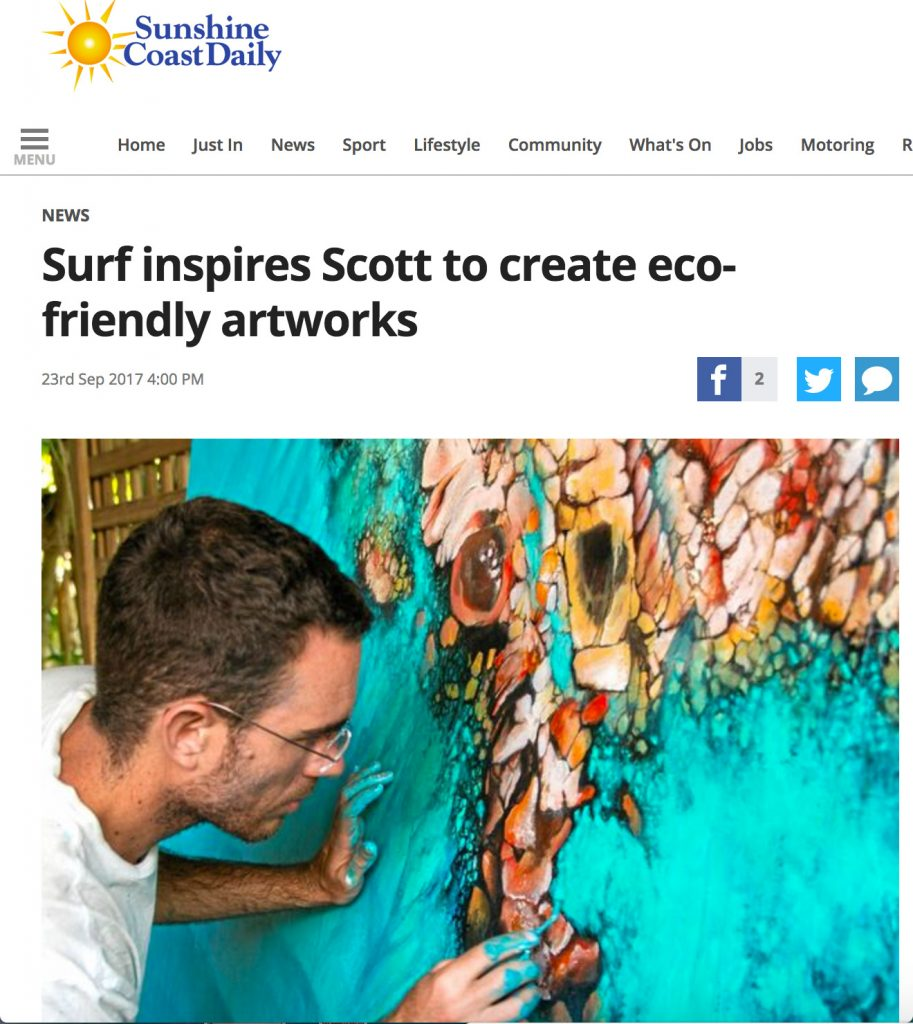 Sunshine Coast Daily Surf inspires Scott to create eco-friendly artworks